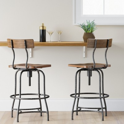 Woodsboro Adjustable Barstool   Threshold™ : Target