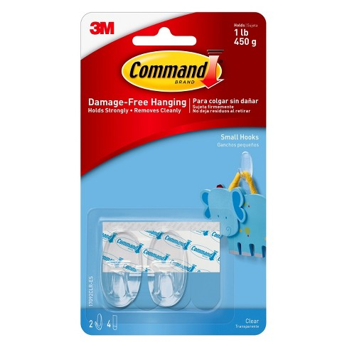 3M Command Hooks Small Designer Hooks 2-Pack - Clear - image 1 of 10