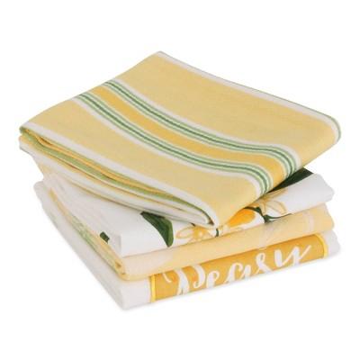 4pk Cotton Lemon Bliss Dishtowel Set - Design Imports