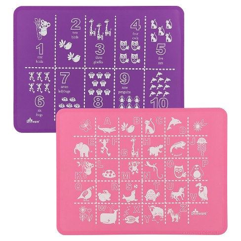 Brinware ABC & 123 Pink/Purple Placemat - Set of 2 - image 1 of 5