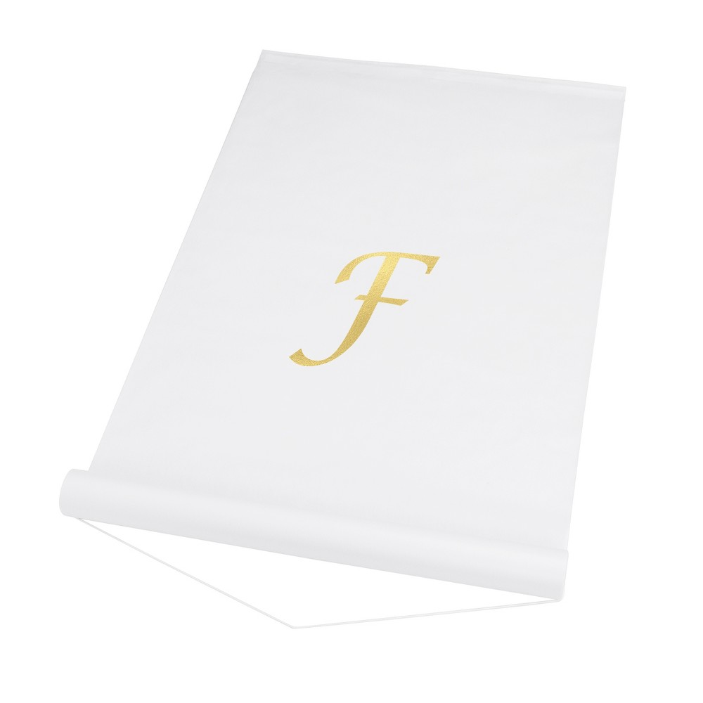 Cathy's Concepts White Personalized Wedding Aisle Runner - F