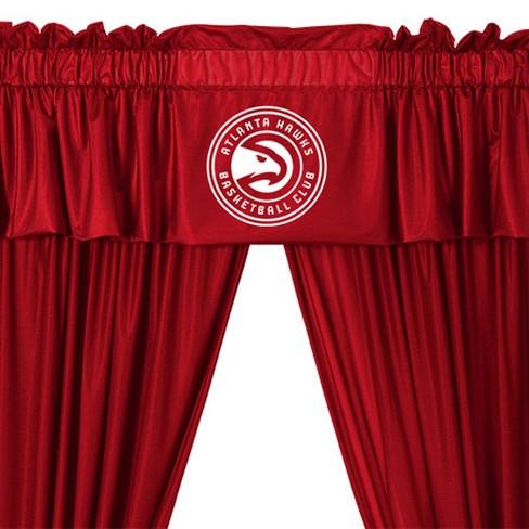 5pc NBA Drape and Valance Set Basketball Team Logo Window Treatment - Atlanta Hawks - image 1 of 3