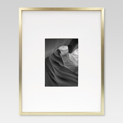 5 x7  Metal Single Image Matted Frame Brass - Project 62™