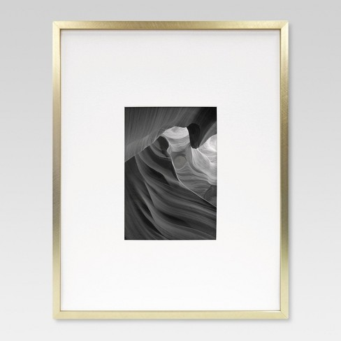 Metal Single Image Matted Frame 5X7- Brass - Project 62™ : Target