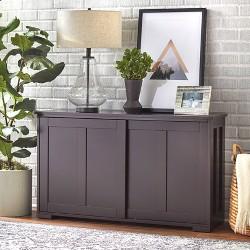 Pacific Stackable Sliding Wooden Doors Cabinet Espresso - TMS