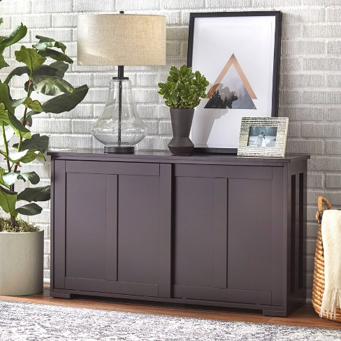 Pacific Stackable Sliding Wooden Doors Cabinet Espresso - TMS - image 1 of 4