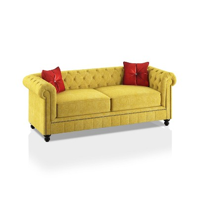 Shields Rolled Arms Sofa Red - HOMES: Inside + Out