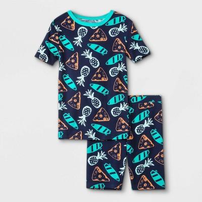 Boys' 2pc Pizza Print Pajama Set - Cat & Jack™ Navy