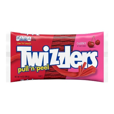 Twizzlers Pull-N-Peel Cherry Licorice Candy - 14oz