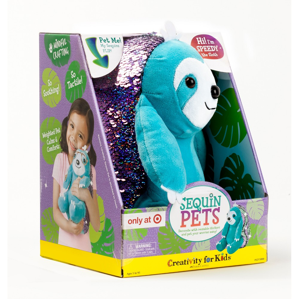 Image of Sequin Sloth Activity Kit - Creativity for Kids