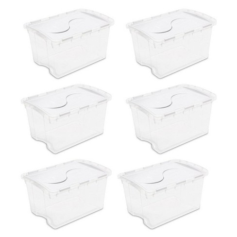Sterilite 19148006 48 Quart Clear Hinged Plastic Storage Container (6 Pack) - image 1 of 4