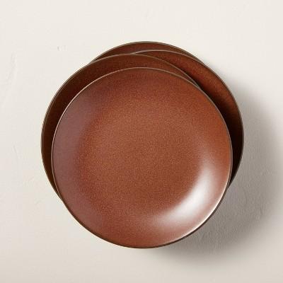 4pk Stoneware Exposed Rim Appetizer Plate Set Cinnamon - Hearth & Hand™ with Magnolia