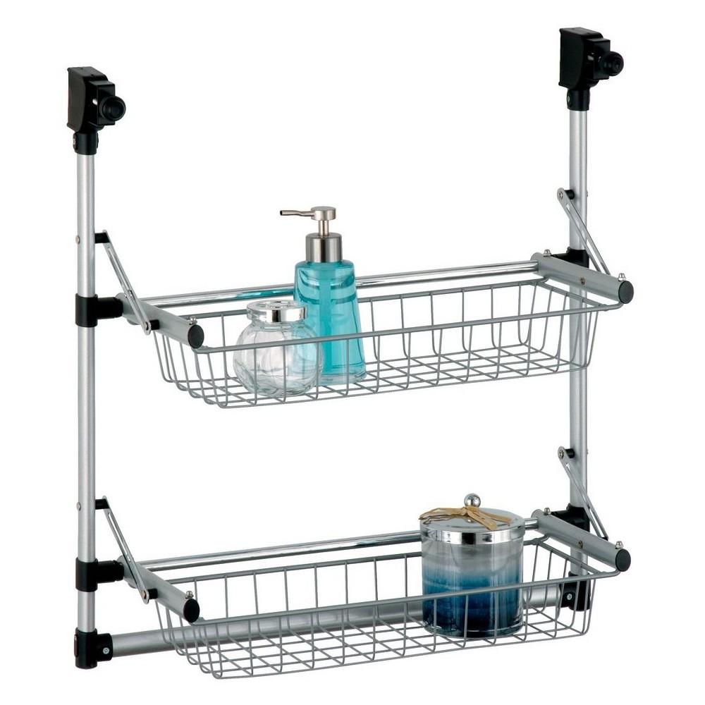 Image of Neu Home Overdoor 2 Tier Basket Unit Medium Silver, Silver Black