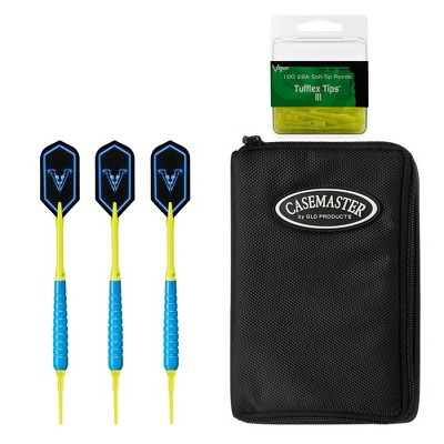 Viper V Glo Soft Tip Darts with Black Casemaster Neon Yellow - 100ct Box
