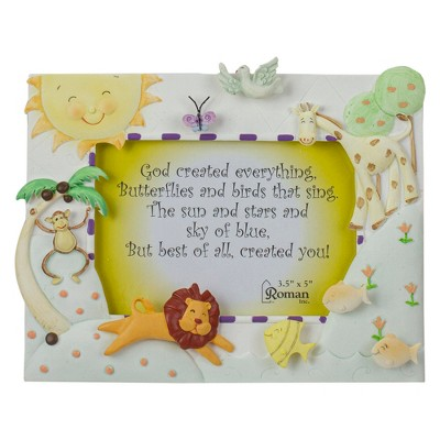 "Roman 7"" God Created Everything 3-D Animal Picture Frame"
