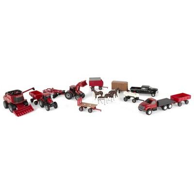 TOMY Case IH 1:64 Scale 20 Piece Vehicle Value Set