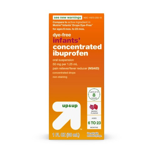 Infants' Concentrated Ibuprofen (NSAID) Oral Suspension Pain & Fever Reducer Liquid - Berry - 1oz - Up&Up™ - image 1 of 4