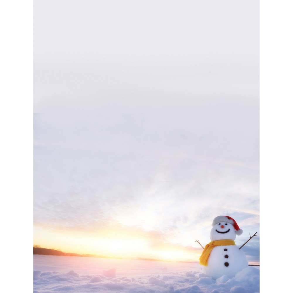 80pk Snowman Sunset Stationery Kits White - Great Papers!
