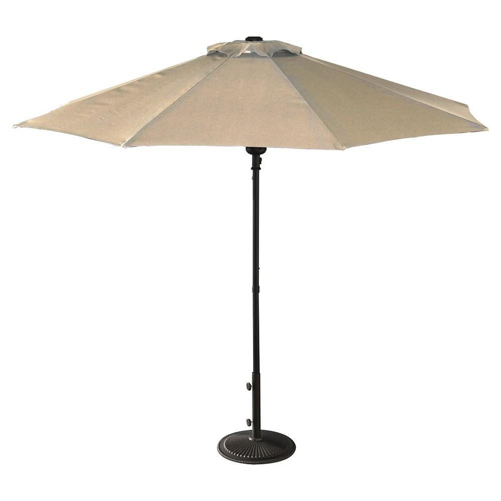 Island Umbrella Cabo 9 Market Umbrella In Champagne Olefin