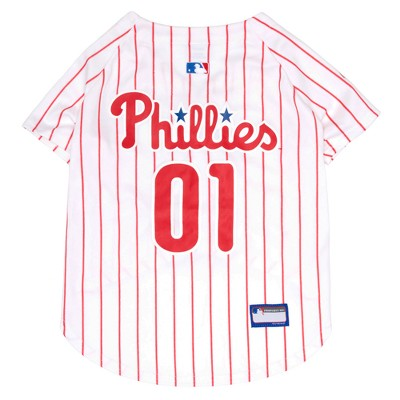 Philadelphia Phillies Pets First Pet Baseball Jersey - White L