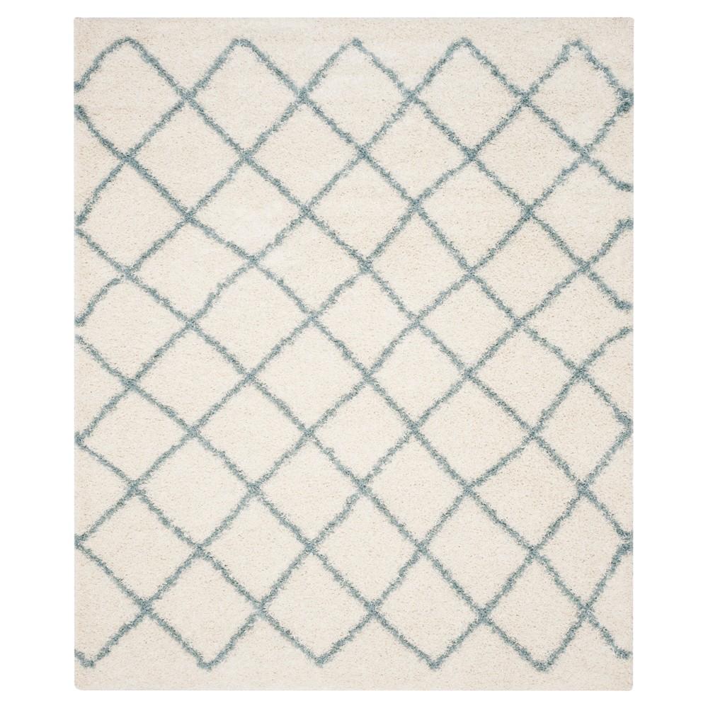 Ivory/Seafoam Geometric Loomed Area Rug - (8'X10') - Safavieh