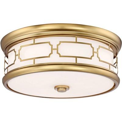 "Minka Lavery Flush Mount 16"" Wide Liberty Gold Drum LED Ceiling Light"