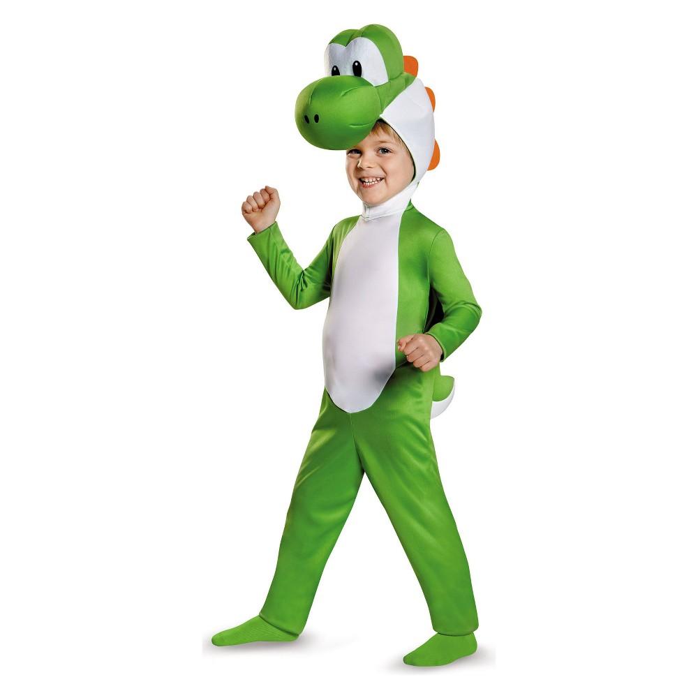 Toddler Kids' Super Mario Bros Yoshi Halloween Costume 4T, Toddler Boy's, Size: 3T-4T, Green