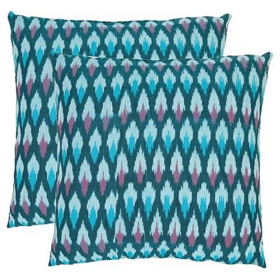 "Blue Luca Throw Pillows (2 Pack)(18""x18"")- Safavieh"