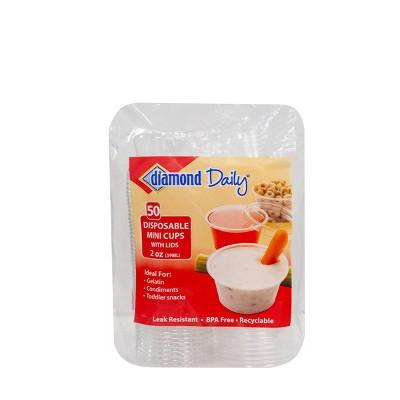 Diamond Multi-Purpose Mini Cups with Lids - 50ct