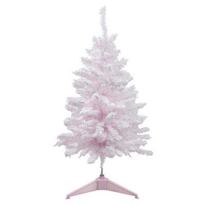 Northlight 3' Flocked Madeline Pink Spruce Artificial Christmas Tree - Unlit