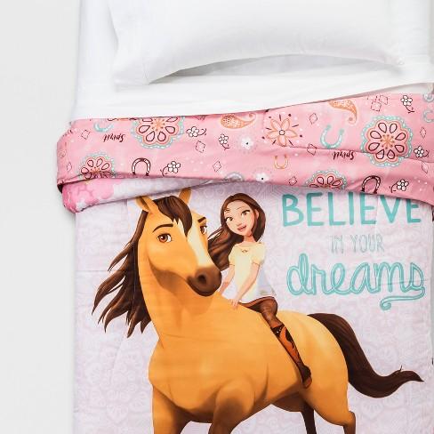 Spirit Riding Free Twin Reversible Comforter Pink - image 1 of 3