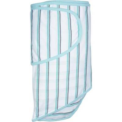 Miracle Blanket Swaddle Wrap Blue/Gray Stripes