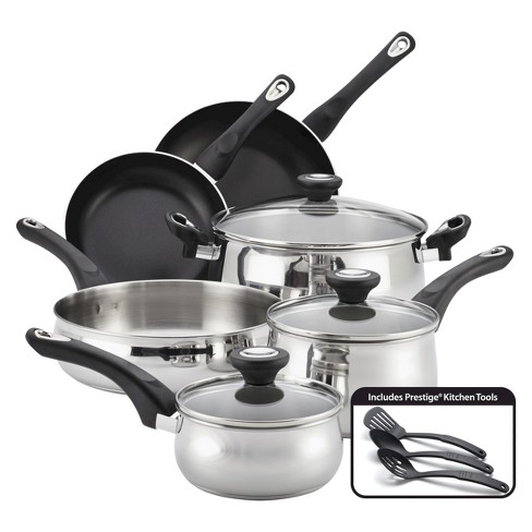 Farberware New Traditions 12 Piece Stainless Steel Cookware Set - image 1 of 2