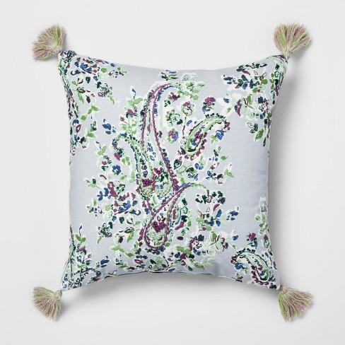 Paisley Embroidered Throw Pillow - Threshold™ - image 1 of 3
