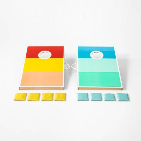 Pleasant Bean Bag Toss Set Color Block Variegated Stripe Large Sun Squad Machost Co Dining Chair Design Ideas Machostcouk