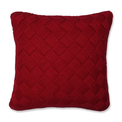 """18""""x18"""" Basket Weave Square Throw Pillow - Pillow Perfect"""