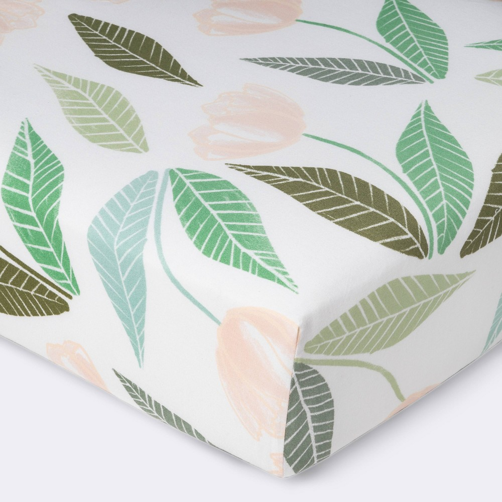 Fitted Crib Sheet Blooms Cloud Island 8482