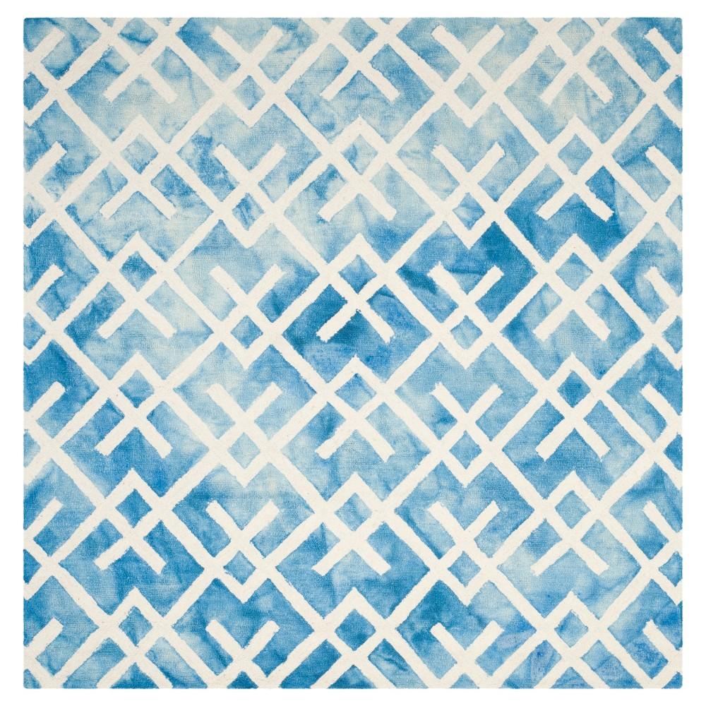 Denzell Area Rug - Blue/Ivory (7'x7') - Safavieh