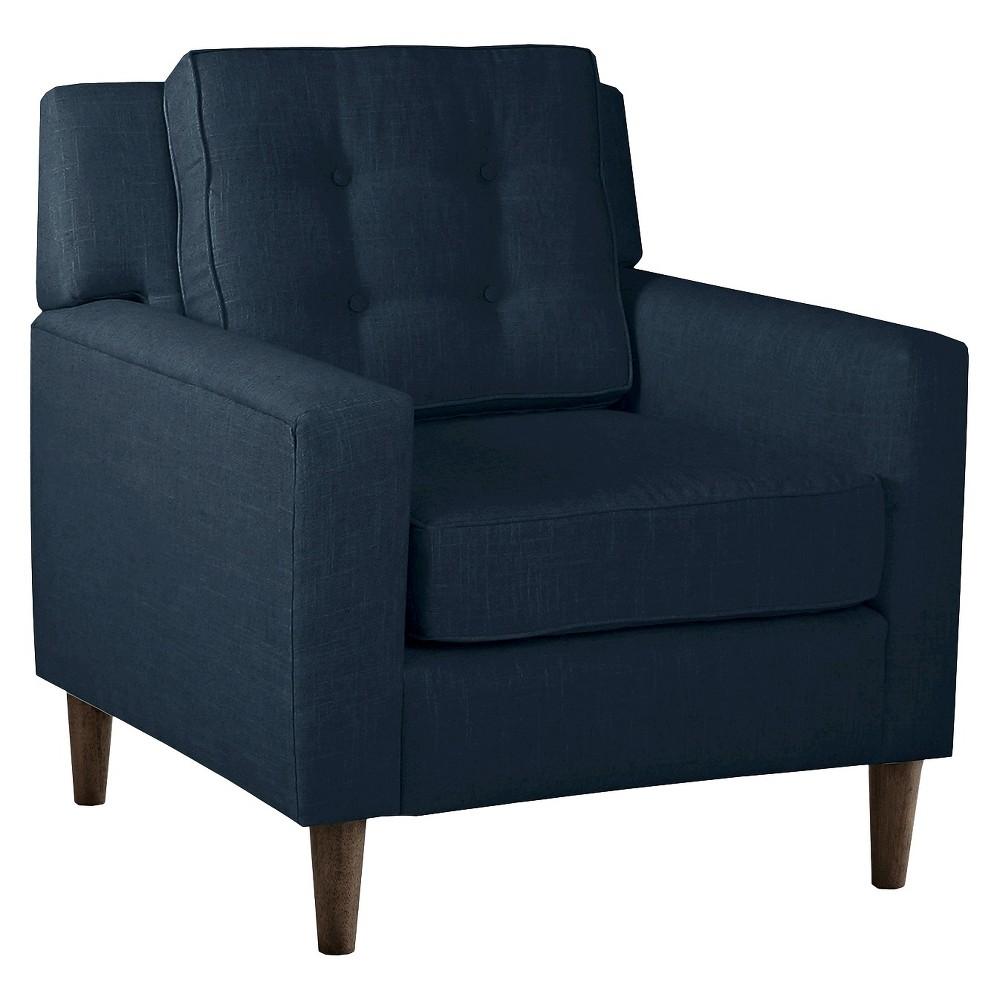 Skyline Custom Upholstered Arm Chair - Skyline Furniture, Linen Navy