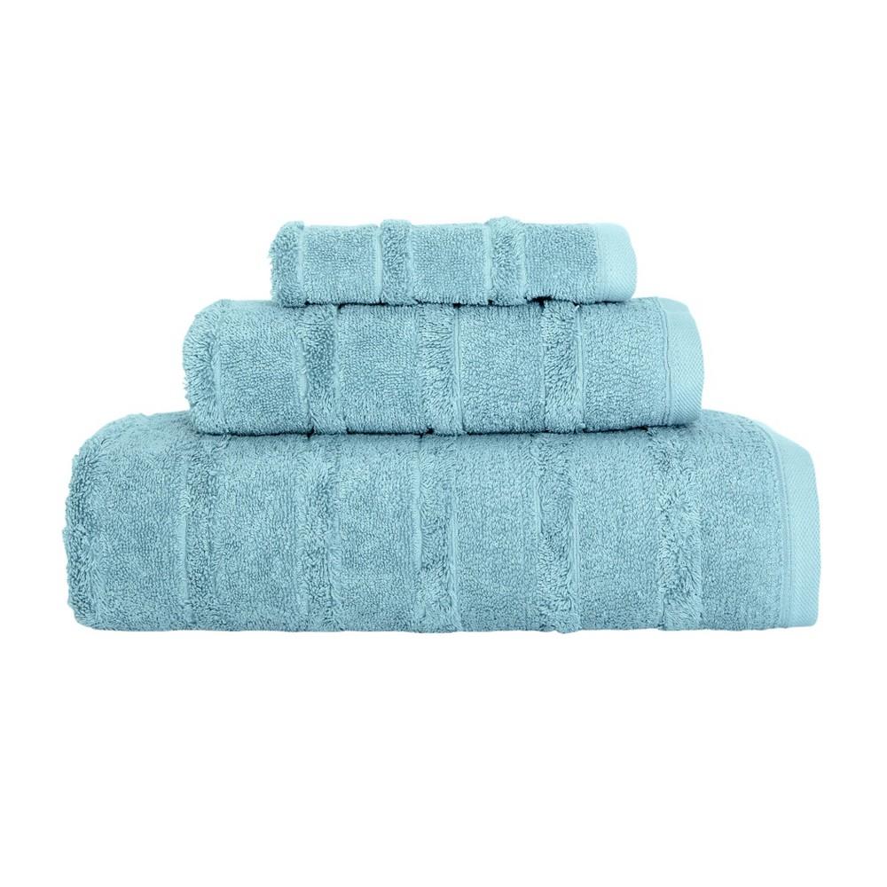 Image of 3pc Carel Luxury Fancy Towel Set Seafoam - Royal Turkish Towels