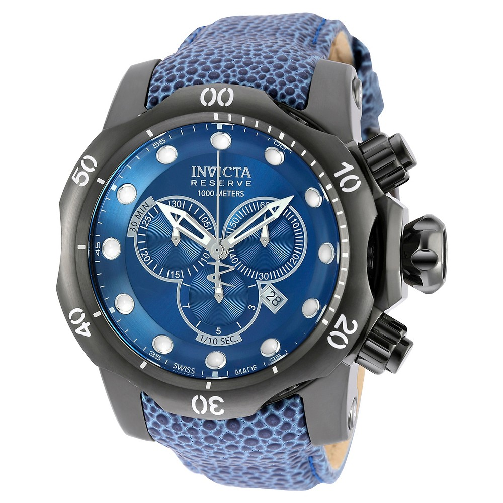 Men's Invicta 18306 Venom Quartz Chronograph Blue Dial Strap Watch - Blue
