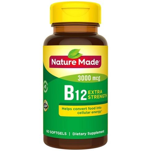 Nature Made Extra Strength Vitamin B12 3000 mcg Softgels - 60ct - image 1 of 3