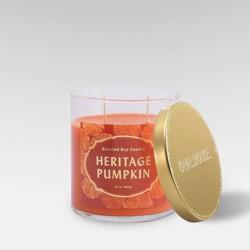 15.1oz Lidded Glass Jar 2-Wick Candle Heritage Pumpkin - Opalhouse™