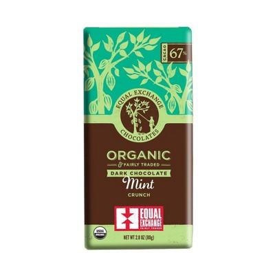 Equal Exchange Organic Fairly Traded Mint Crunch Dark Chocolate Bar - 2.8oz