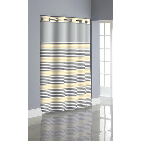 Ombr Stripe Hookless Shower Curtain