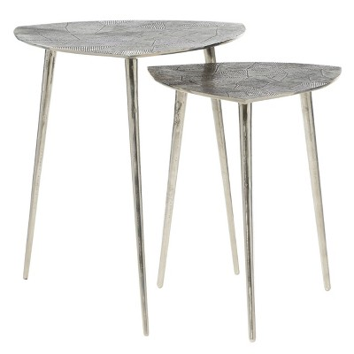 2pk Aluminum Patio Accent Table - Olivia & May