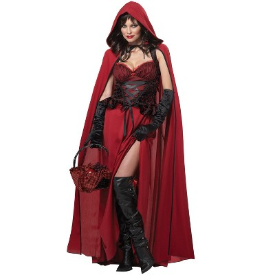 California Costumes Dark Red Riding Hood Adult Costume