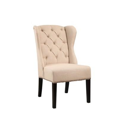Misty Linen Wingback Dining Chair Cream - Abbyson Living