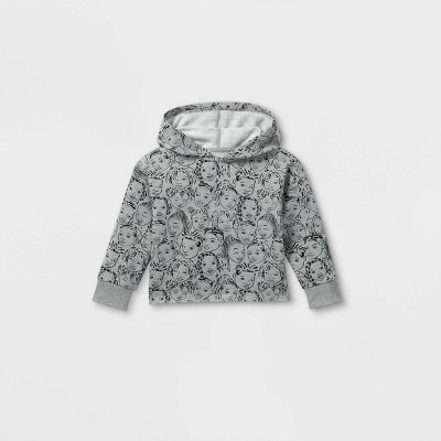 Black History Month Toddler Faces Hooded Sweatshirt - Gray