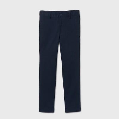 Boys' Flat Front Stretch Uniform Straight Fit Pants - Cat & Jack™ Navy